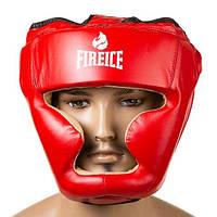 Шлем закрытый для единоборств красный Fire&Ice Flex, размер M