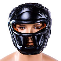 Шлем для бокса черный с пластиковой маской Everlast, размер S