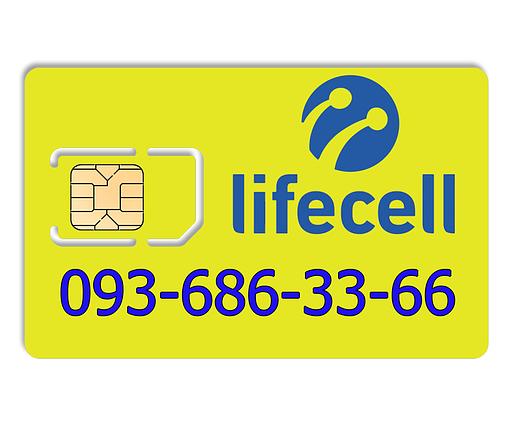 Красивый номер lifecell 093-686-33-66, фото 2