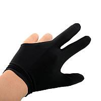 Перчатки бильярдные, 1шт, черный
