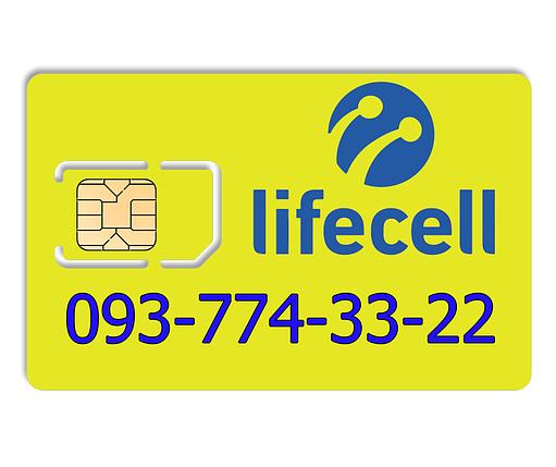 Красивый номер lifecell 093-774-33-22, фото 2