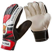 Вратарские перчатки Latex Foam FC BARCS, красно-черные, р.7