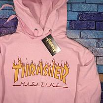 Толстовка Thrasher Pink   худи Трешер   кенгуру трашер, фото 2