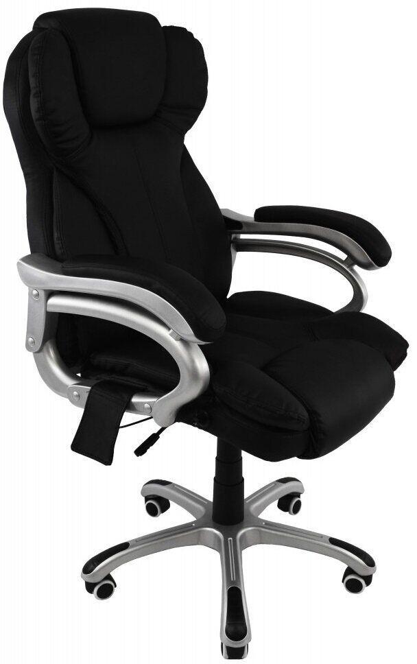 Кресло офисное с массажем Bonro M8074. Цвет черный.