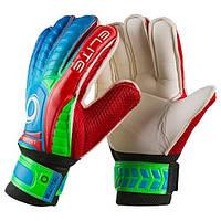 Вратарские перчатки Latex Foam ELITE, красно-зеленые, р.7
