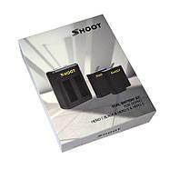Набор SHOOT: Зарядное устройство на два места + два аккумулятора для GoPro HERO5/6/7 Black, Hero 2018, фото 4