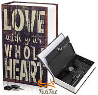 Книга сейф женская на ключе Love With your