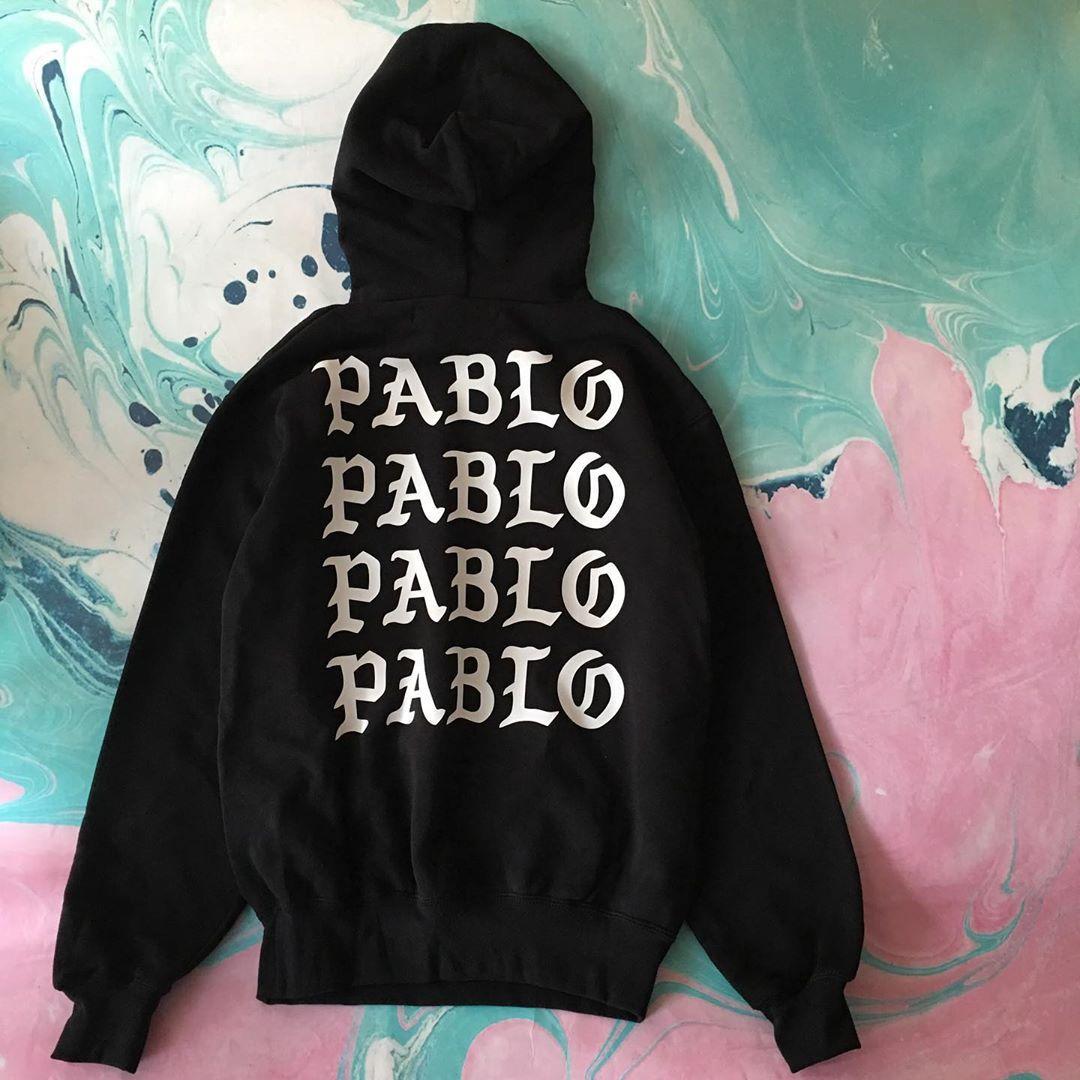Толстовка чёрная I Feel Like Pablo | худи пабло | кенгурушка лайк пабло
