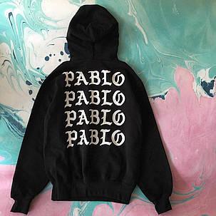 Толстовка чёрная I Feel Like Pablo | худи пабло | кенгурушка лайк пабло, фото 2