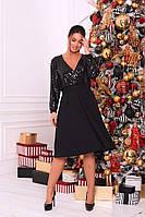 Женское коктейльное платье с вырезом батал, фото 1