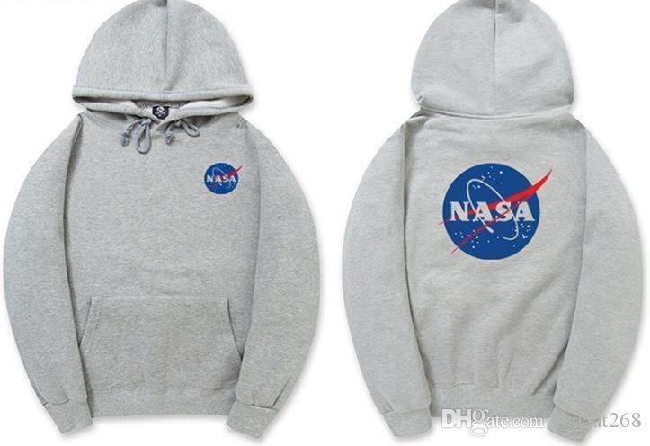 Толстовка серая NASA Logo | худи насса | кенгуру наса
