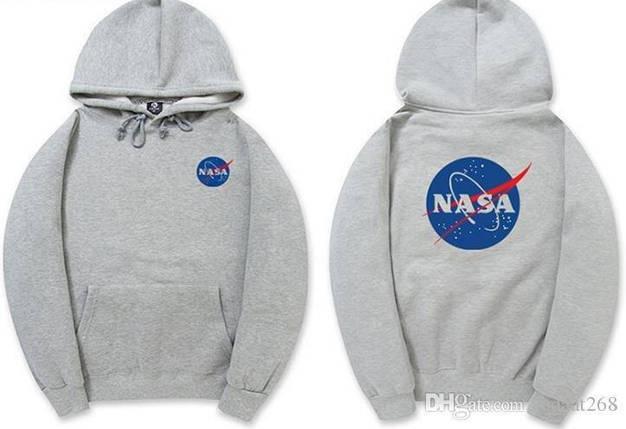 Толстовка серая NASA Logo | худи насса | кенгуру наса, фото 2