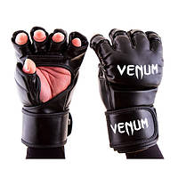 Перчатки единоборств черные Venum MMA, DX364, размер S