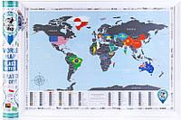 Скретч карта світу flags edition англійською мовою
