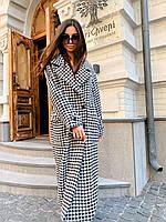Модное женское двубортное пальто на пуговицах 42-46 р