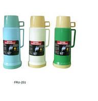 Вакуумный стеклянный термос 600 мл. ,1 чашка,FRU-252