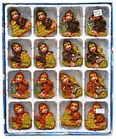 "Магнит на холодильник ""Обезьянка с деньгами"" (16 шт/уп)(7х5х2 см)(R501-07)(7,5х4х3 см)(15081)"