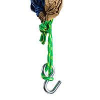 Гамак GreenCamp Voyage 300*200 см, парашютный шелк, синий/горчичный