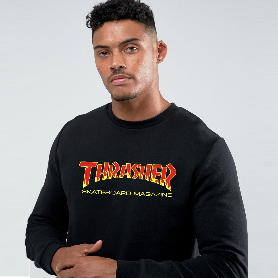 Свитшот Thrasher Skateboard New Logo | худи Трешер | кенгуру трашер