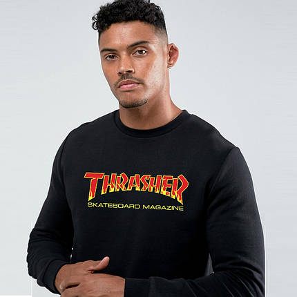 Свитшот Thrasher Skateboard New Logo | худи Трешер | кенгуру трашер, фото 2