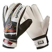 Вратарские перчатки Latex Foam REUSCH, черно-белые, р.6