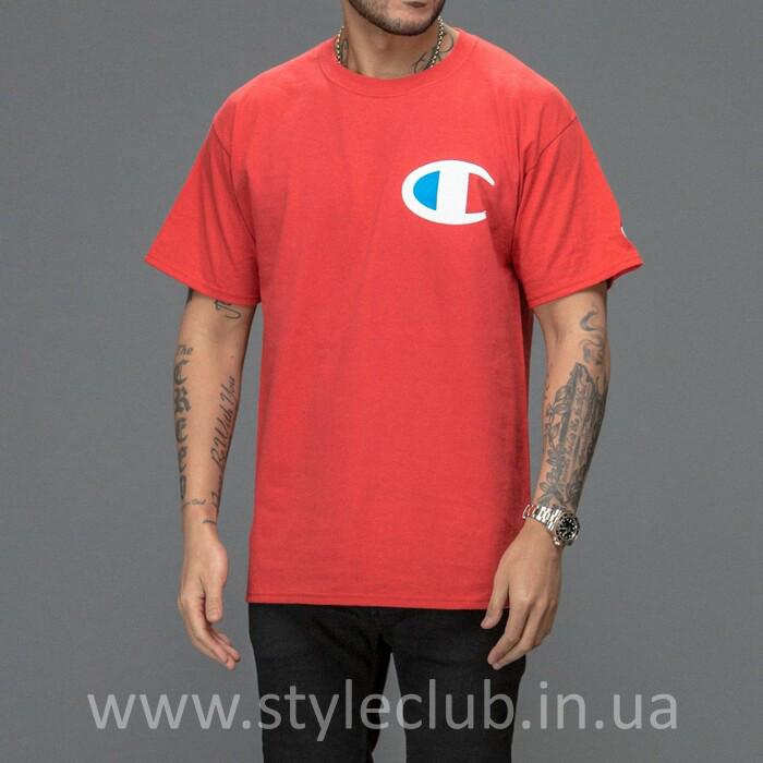 Champion Футболка мужская • Бирка оригинальная • красная