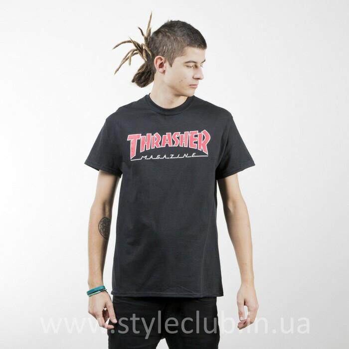 Футболка Thrasher мужская чёрная . Бирки оригинальные