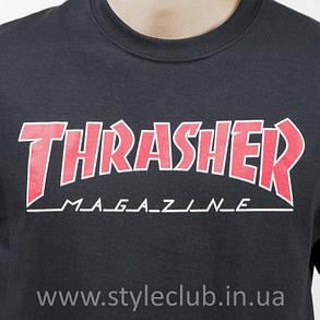 Футболка Thrasher мужская чёрная . Бирки оригинальные, фото 2