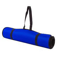 Коврик для йоги и фитнеса синий EVA, IronMaster 180x60x0.6см