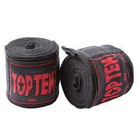 Бинты боксерские TopTen, 4м черные
