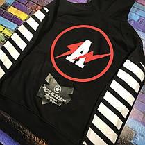 Толстовка OFF WHITE A Lightning Hoodie (Black) | Худи офф вайт | кенгуру оф вайт, фото 2