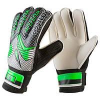 Вратарские перчатки Latex Foam MITRE, зеленый, р.6