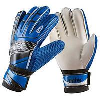 Вратарские перчатки Latex Foam MITER, синий, р.6