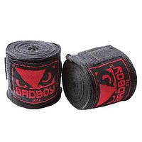 Бинты боксерские BadBoy, 4м черные