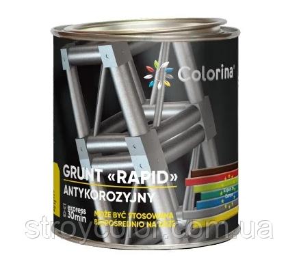 Грунтовка антикоррозионная Серая RAPID COLORINA 2,8кг (быстросохнущий грунт по металлу колорина)