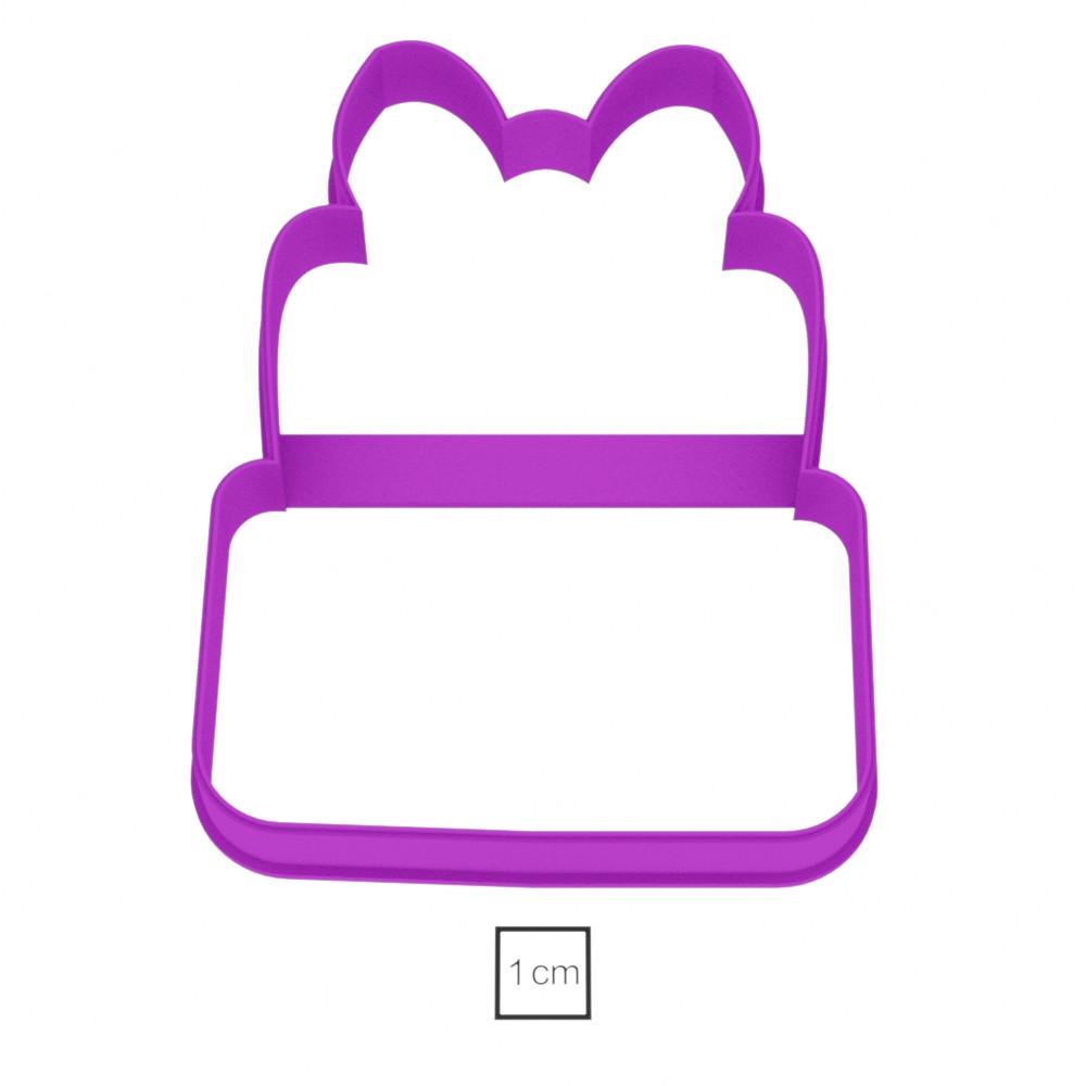 Висічка для пряників у вигляді тортика з бантиком