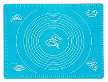 Коврик силиконовый для раскатки теста кухонный Синий 30х40 см