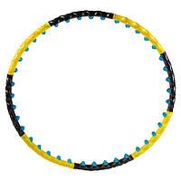 Обруч разборной 3005, 2ряда магнитных шариков, желто/черный
