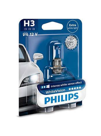 Лампа галогенная Philips H3 WhiteVision (12336WHVB1), фото 2