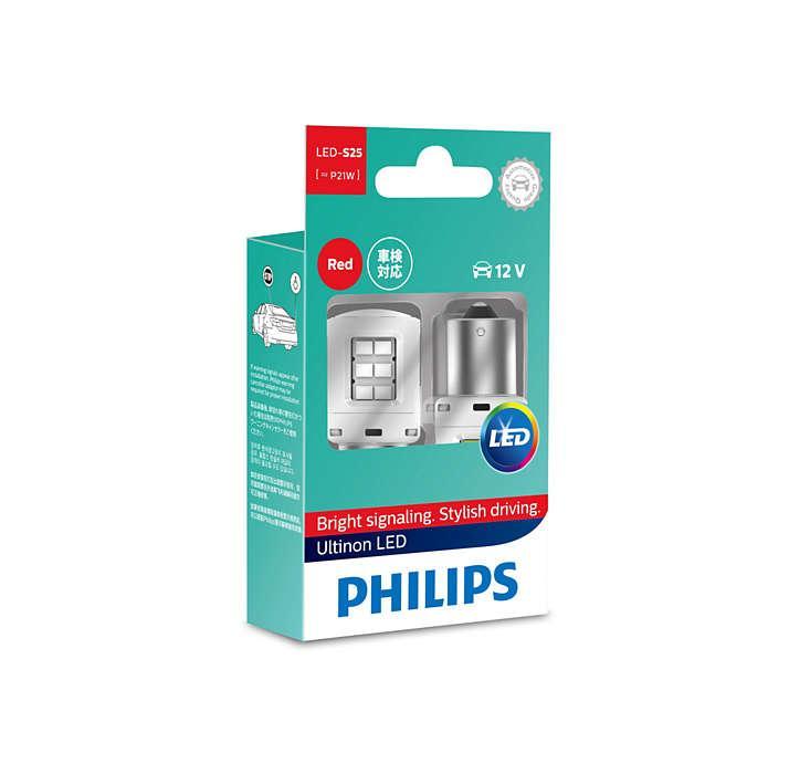 Лампа светодиодная Philips P21W RED Ultinon (11498ULRX2)
