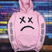 Худи Lil-Peep • Все размеры • Топ качество • Хайповый бренд • Розовая толстовка, фото 3