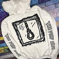 Худи Lil-Peep • Все размеры • Топ качество • Хайповый бренд • белая толстовка, фото 2