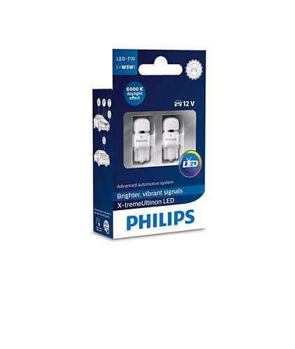 Лампа светодиодная Philips W5W X-tremeUltinon (127996000KX2)