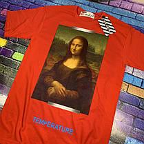 Футболка OFF WHITE - Mona Lisa Red • Топ качество •  Ориг бирки • Все размеры, фото 2