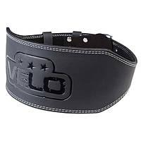 Пояс атлетический кожаный черный VELO Antique, размер M