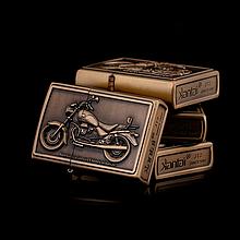 Зажигалка бензиновая серия Bike «Moto Guzzi California EV Valvole» бронза