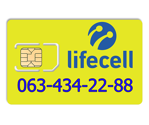 Красивый номер lifecell 063-434-22-88, фото 2