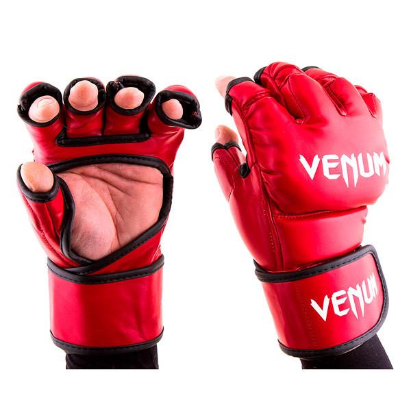 Перчатки единоборств красные Venum MMA, DX364, размер M