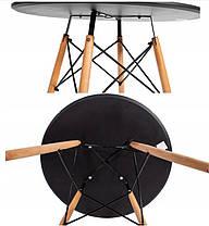 Столик Bonro В-957-600 + 4 черных кресла B-173, фото 3
