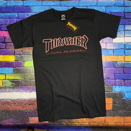 Футболка Independent x Thrasher чёрная, фото 2